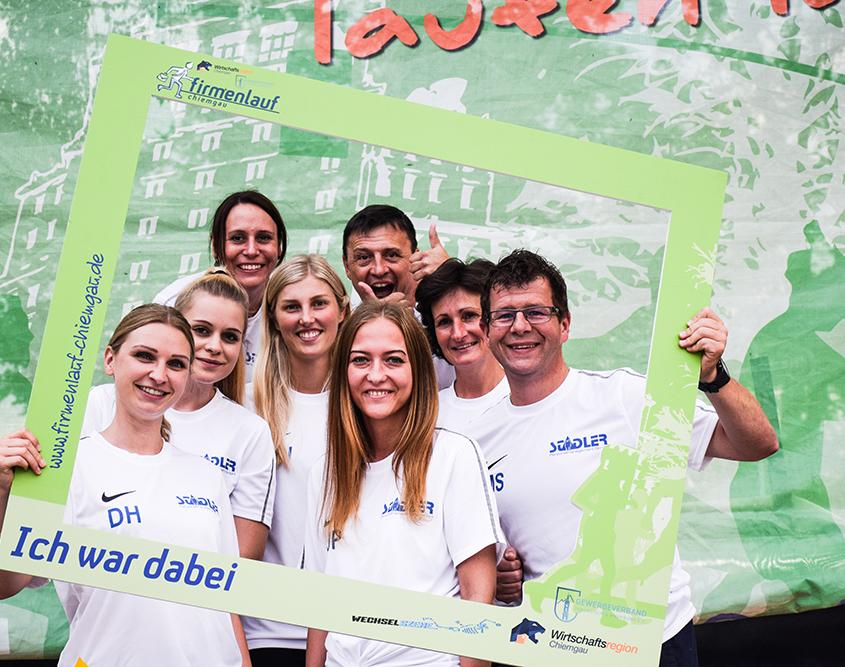 Firmenteam beim Firmenlauf Chiemgau 2018